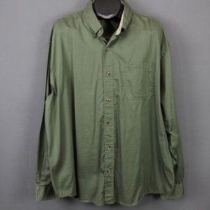 North Crest Shirt Size XXL Green Mens Button